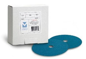 "Resin Fibre Discs - Zirconia 5"" x 7/8"" Hole, Grit:36, Mercer Abrasives 308036 (25/Pkg.)"