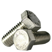 "1""-8x3-1/2"" Partially Threaded Hex Cap Screws Coarse A2 18-8 Stainless Steel (20/Bulk Pkg.)"