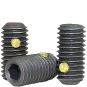 "1/4""-28x1-1/4"" Socket Set Screws Cup Point Fine Alloy w/ Nylon-Pellet Thermal Black Oxide (700/Bulk Pkg.)"
