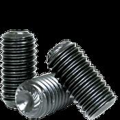 M10-1.50x16 MM Socket Set Screws Knurled Cup Point 45H Coarse Alloy ISO 4029 Black Oxide (1,500/Bulk Pkg.)