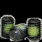 "#10-24x3/8"" Socket Set Screws Flat Point Coarse Alloy w/ Nylon-Patch Thermal Black Ox (1,000/Bulk Pkg.)"