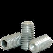 M4-0.70x5 MM Socket Set Screw Cup Point 45H Coarse Alloy ISO 4029 / DIN 916 Zinc-Bake Cr+3 (5,000/Bulk Pkg.)