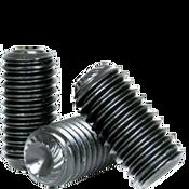 "#10-32x7/16"" Socket Set Screws Knurled Cup Point Fine Alloy Thermal Black Oxide (100/Pkg.)"