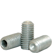 M8-1.25x6 MM Socket Set Screw Cup Point 45H Coarse Alloy ISO 4029 / DIN 916 Zinc-Bake Cr+3 (5,000/Bulk Pkg.)