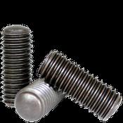 "#8-32x3/8"" Socket Set Screws Oval Point Coarse Alloy Thermal Black Oxide (5,000/Bulk Pkg.)"