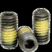 "3/8""-16x1-1/4"" Socket Set Screws Cup Point Coarse Alloy w/ Nylon-Patch Thermal Black Oxide (500/Bulk Pkg.)"