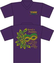 Texas Roses Chapter Tea & Senior Recognition Purple UNISEX V-Neck (Next Level SOFT Cotton)