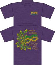 Texas Roses Chapter Tea & Senior Recognition HEATHER Purple UNISEX T-shirt (Anvil SOFT Cotton)