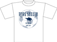 TMHS VARSITY Girls Soccer White T-Shirt (Next Level)