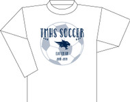 TMHS VARSITY Girls Soccer White Long Sleeve (Next Level)