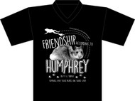 Tomball Reads Friendship According to Humphrey VNECK t-shirt (Anvil SOFT Cotton)