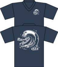 CFES Staff Shirt Bella Unisex V-Neck (Heather Navy)