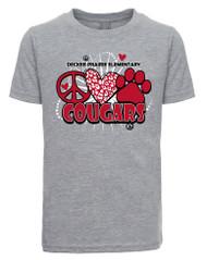 DPES Peace Love Cougars t-shirt (Next Level SOFT Cotton)