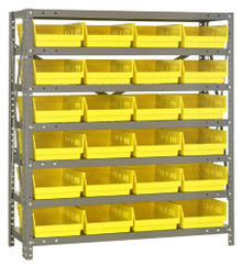 Steel Shelving with 24 Shelf Bins - 12 x 8 x 4 (V1239-107)