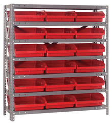 Steel Shelving with 18 Shelf Bins - 12 x 11 x 4 (V1239-109)