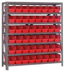 Steel Shelving with 48 Shelf Bins - 18 x 4 x 4 (V1839-103)