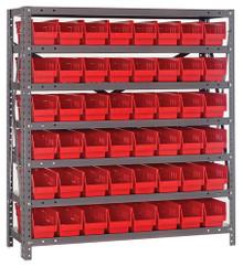 Steel Shelving with 48 Shelf Bins - 18 x 4 x 4 (V1839-103)