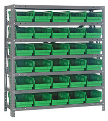 Steel Shelving with 30 Shelf Bins - 18 x 7 x 4 (V1839-104)