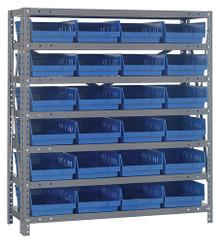 Steel Shelving with 24 Shelf Bins - 18 x 8 x 4 (V1839-108)
