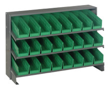 Steel Shelving with 24 Shelf Bins - 12 x 4 x 4 (VQPRHA-101)