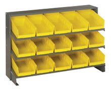 Steel Shelving with 15 Shelf Bins - 12 x 7 x 4 (VQPRHA-102)