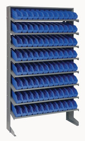 Steel Shelving with 96 Shelf Bins - 12 x 3 x 4 (VQPRS-100)