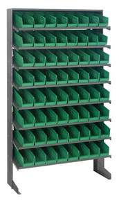 Steel Shelving with 64 Shelf Bins - 12 x 36 x 75 (VQPRS-101)