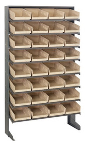 Steel Shelving with 32 Shelf Bins -12 x 8 x 4 ( VQPRS-107)