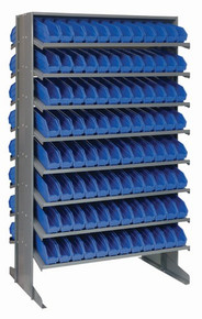 Steel Shelving with 192 Shelf Bins - 12 x 3 x 4 (VQPRD-100)