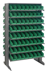 Steel Shelving with 128 Shelf Bins - 12 x 4 x 4 (VQPRD-101)