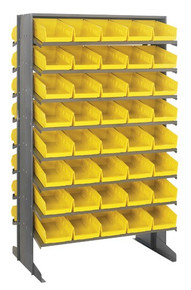 Steel Shelving with 80 Shelf Bins - 12 x 7 x 4 (VQPRD-102)