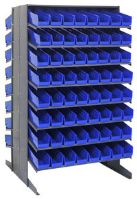 Steel Shelving with 64 Shelf Bins - 18 x 8 x 4 (VQPRD-108)