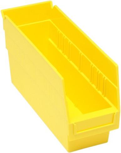 Plastic Shelf Bin - 36 Pack - 12 x 4 x 6 - Yellow