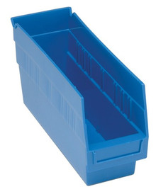 Plastic Shelf Bin - 36 Pack - 12 x 4 x 6 - Blue