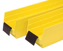 Extended Label Holder for Economy Shelf Bins - 45 Degree Angle