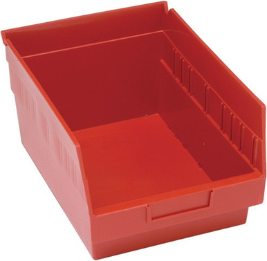 VQSB207 - Plastic Shelf Bins 12x8.6 - Red