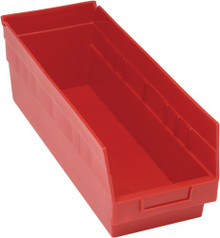 VQSB204 - Plastic Parts bins - 18x7x6 - Red