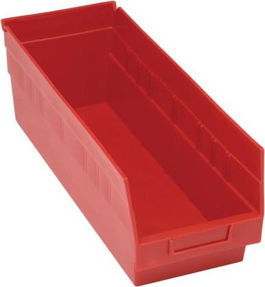 VQSB204 - Plastic Parts bins - 18x7x6 - Red