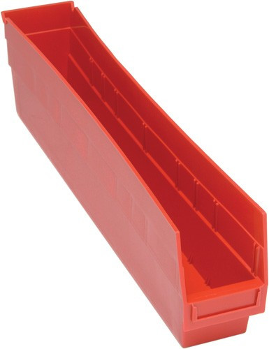 VQSB205 - Plastic Parts Bins - 24x4x6 - Red
