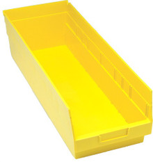 VQSB214 - Plastic Parts Bins - 24x8x6 - Yellow