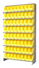 Sloped Shelf Bench Rack - 8 Shelves with 24 Bins - 18 x 11 x 6 (VQPRS-210-YL)