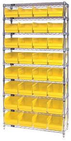 VWR9-207 - Wire Shelving System 9 Shelves - 32 Bins (12 x 8 x 6)