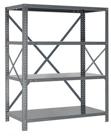 Steel Open Shelving - 18 Gauge - 39 Inch High 5 Shelves 12 x 36 (V18G-39-1236-5)