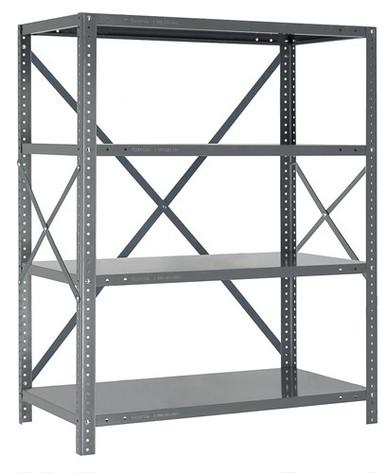 Steel Open Shelving - 18 Gauge - 39 Inch High 5 Shelves 18 x 36 (V18G-39-1836-5)