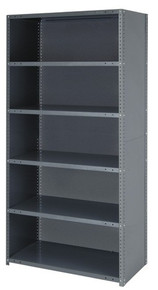 Steel Closed Shelving - 39 Inch High 4 Shelves 12 x 36 (V22G-CL39-1236-4)