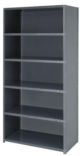 Steel Closed Shelving - 39 Inch High 4 Shelves 12 x 36 (V22G-CL39-1236-4)