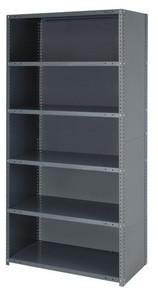 Steel Closed Shelving Unit - 22 Gauge 5 Shelves 12 x 36 x 39 (V22G-CL39-1236-5)