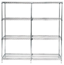 "54"" High Chrome Wire Shelving Units - 4 Shelves - 36 x 60 x 54 (VWR54-3660C)"
