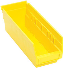 Plastic Shelf Bin - 36 Pack - 12 x 4 x 4 (VQSB101)