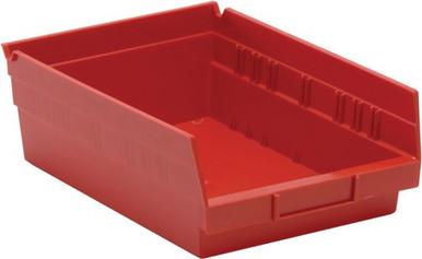 VQSB107 - 12x8x4 - 20 Pack - Plastic Shelf Bin